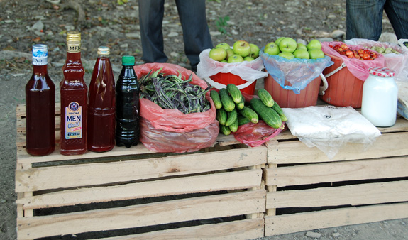 Azerbaijan Travel - Quba - Roadside Vendors