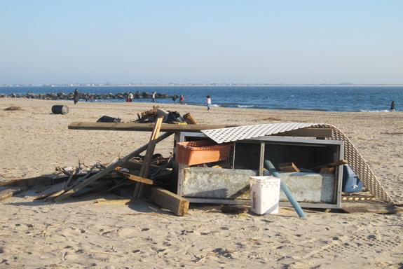 Brighton Beach after Hurricane Sandy