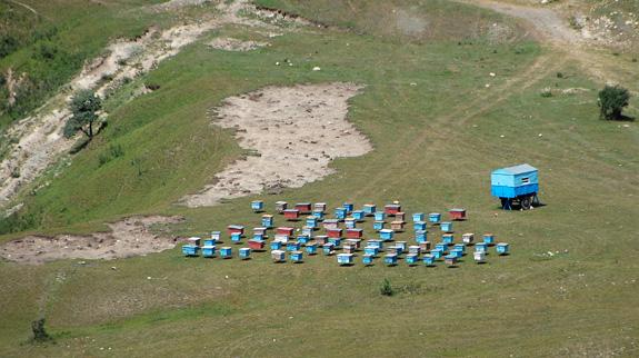 Azerbaijan Travel - Road to Xinaliq - Beehives