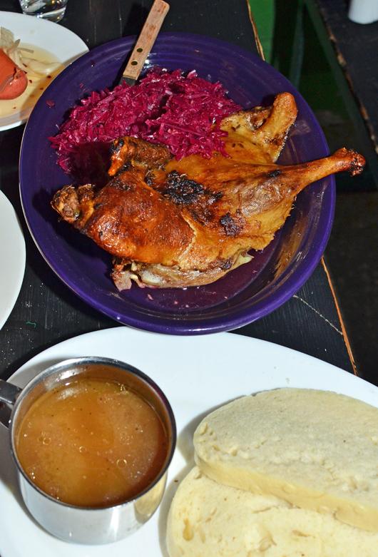 Czech Cuisine - Bohemian Hall - Roasted Duck