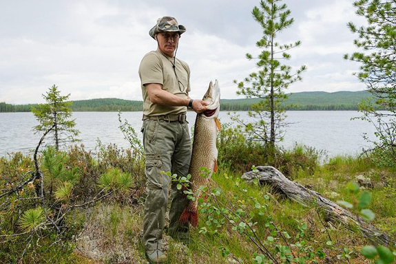 Vladimir Putin on a fishing trip in Krasnoyarsk Territory