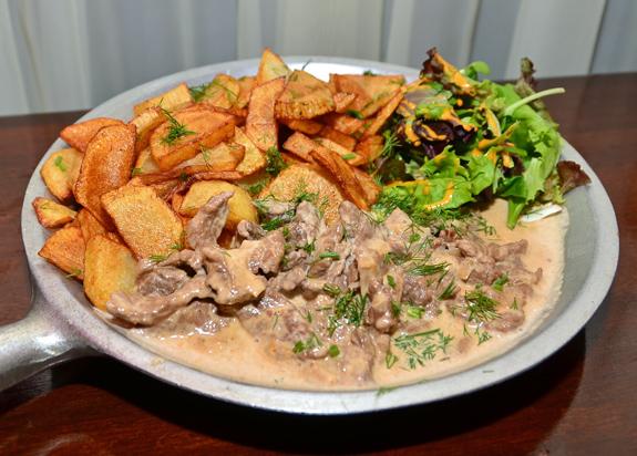 Russian Food - Nasha Rasha - Beef Stroganoff