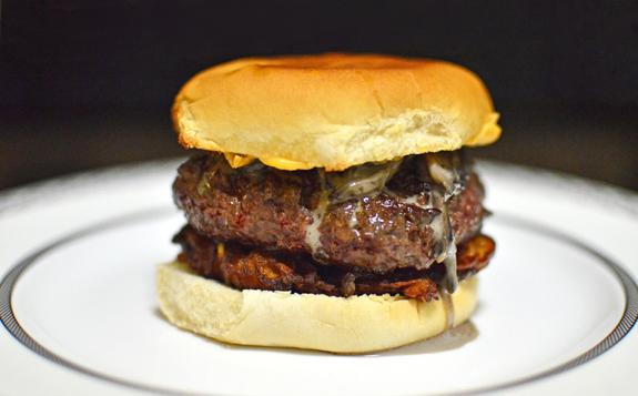 Venison and Potato Latke Burger