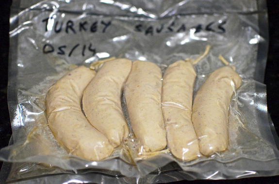 Wild Turkey Emulsion Sausages