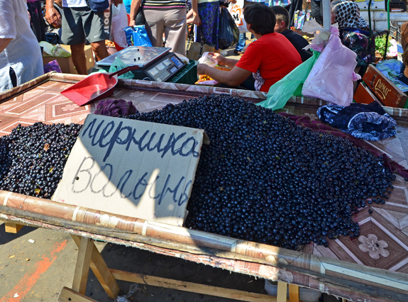 Privoz Market - Blueberries