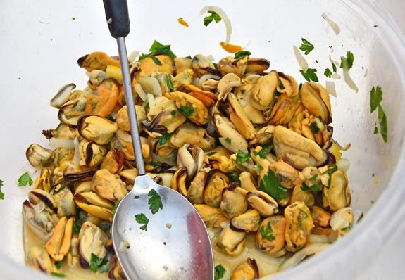 Privoz Market - Mussels